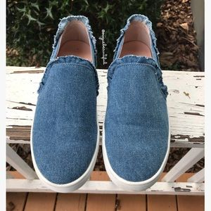 Kate Spade Lilly Light Blue Denim Slip Ons